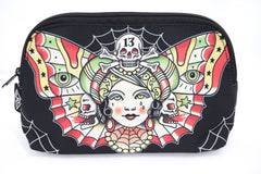 Liquorbrand Traditional Butterfly women Tattoo Flash Tattoo Art Cosmetic Bag Pouch - Skelapparel