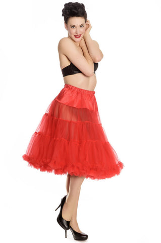 "Hell Bunny Red Full Volume Petticoat 25 "" - 27"" Length - Red Petticoat"