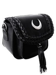 witchy night moon crossbody purse
