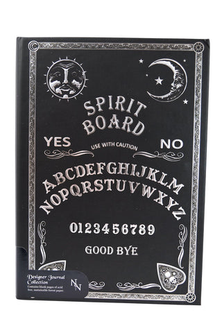 Ouija Board | SPIRIT BOARD Embossed Hard Cover Journal Wicca Pagan Occult Notebook - Skelapparel