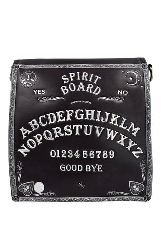 Spirit Board Ouija Board Embossed Crossbody Purse Unisex - Skelapparel