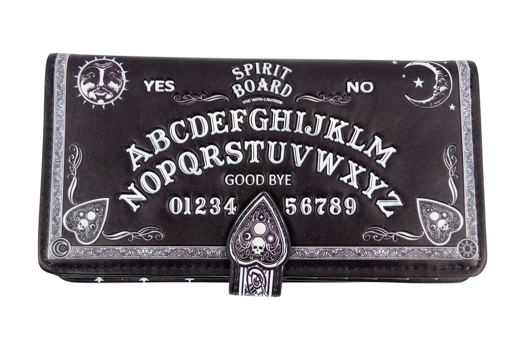Spirit Board Ouija Board 3D Embossed Black Wallet Wiccan Gothic Gift