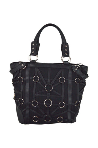 Restyle Dark Side Gothic O-rings & Black Harness Design Witchcraft Tote Bag