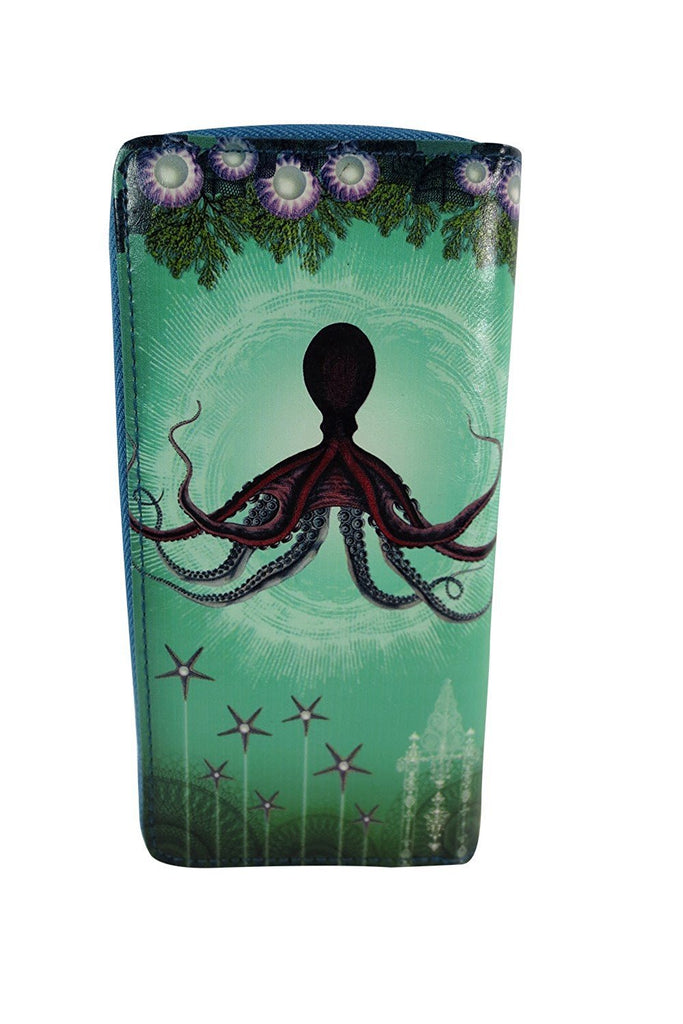 Ocean Dream Mystic Octopus Deep Sea Paradise Art Large Wallet - Skelapparel