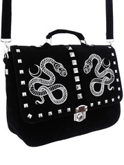 witch serpent snale and moon messanger bag