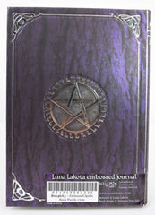 Gothic Gift Embossed Purple Spell Book Pentagram Witch Wicca Journal - Skelapparel