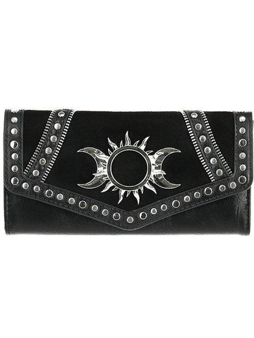 Restyle Wiccan Triple Goddess Wallet - Witchcraft Moon and Sun - Skelapparel