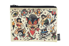 Liquorbrand traditional tattoo flash Lucky 13 wristlet pouch bag and Coin Purse - Skelapparel