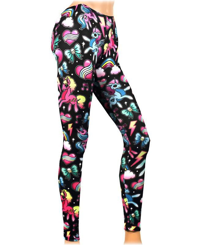 Liquor Brand Punk Lolita Magical Unicorn Leggings - Skelapparel