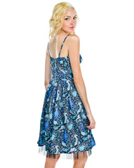 Blue sea Octous and sea creature mini dress