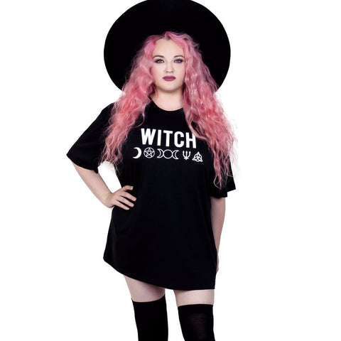 oversized WITCH black tee t-shirt