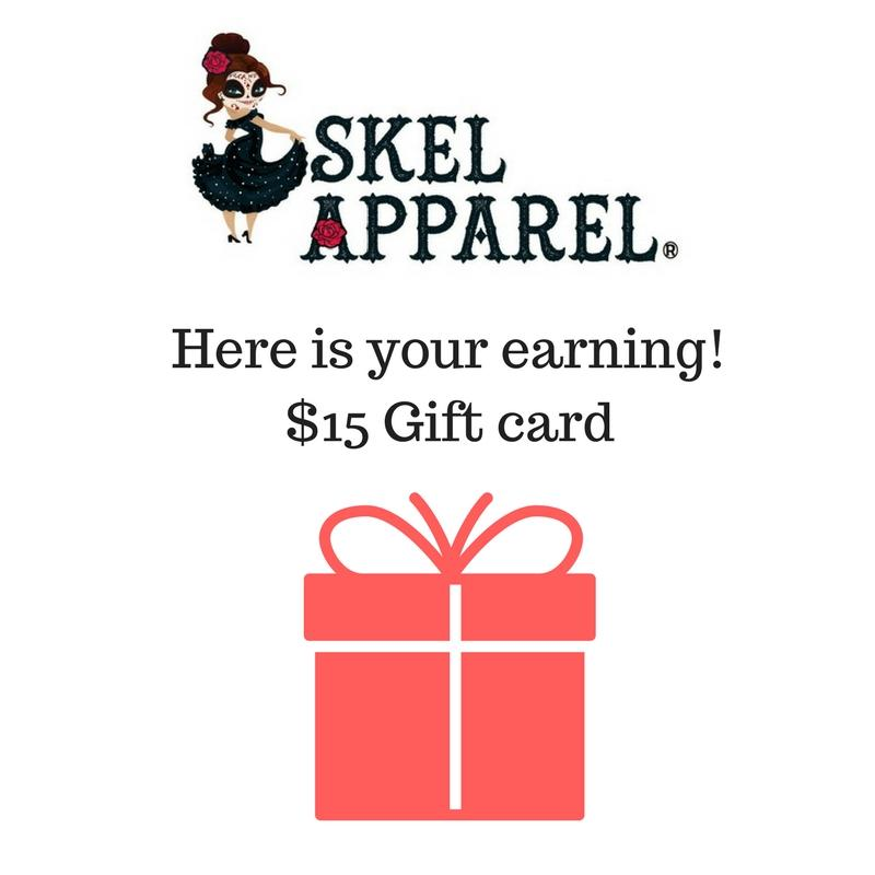 Skelapparel Gift Card - Affiliate Program - Skelapparel