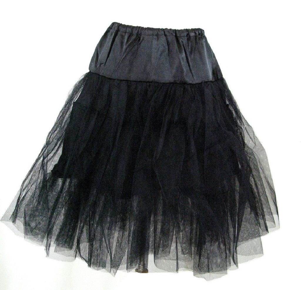 Viva Dance Black Petticoat Three Layers Underskirt Pannier - Skelapparel
