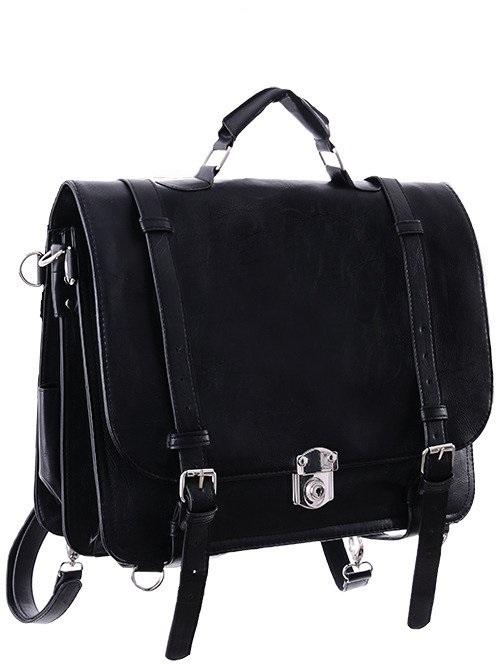 Restyle Black Classic Messenger Bag | Backpack | Satchel Bag - Witch Messenger Bag - Skelapparel