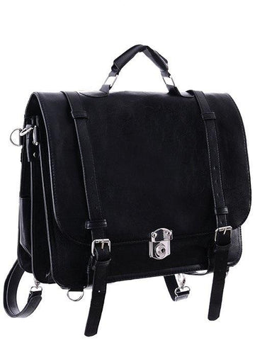 Restyle Black Classic Messenger Bag | Backpack | Satchel Bag - Witch Messenger Bag