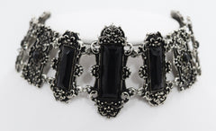 Gothic Black stone chokers