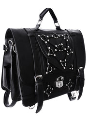 Restyle Gothic Witchcraft Bondage Messenger Expandable 3 Way Bag - Skelapparel - 2