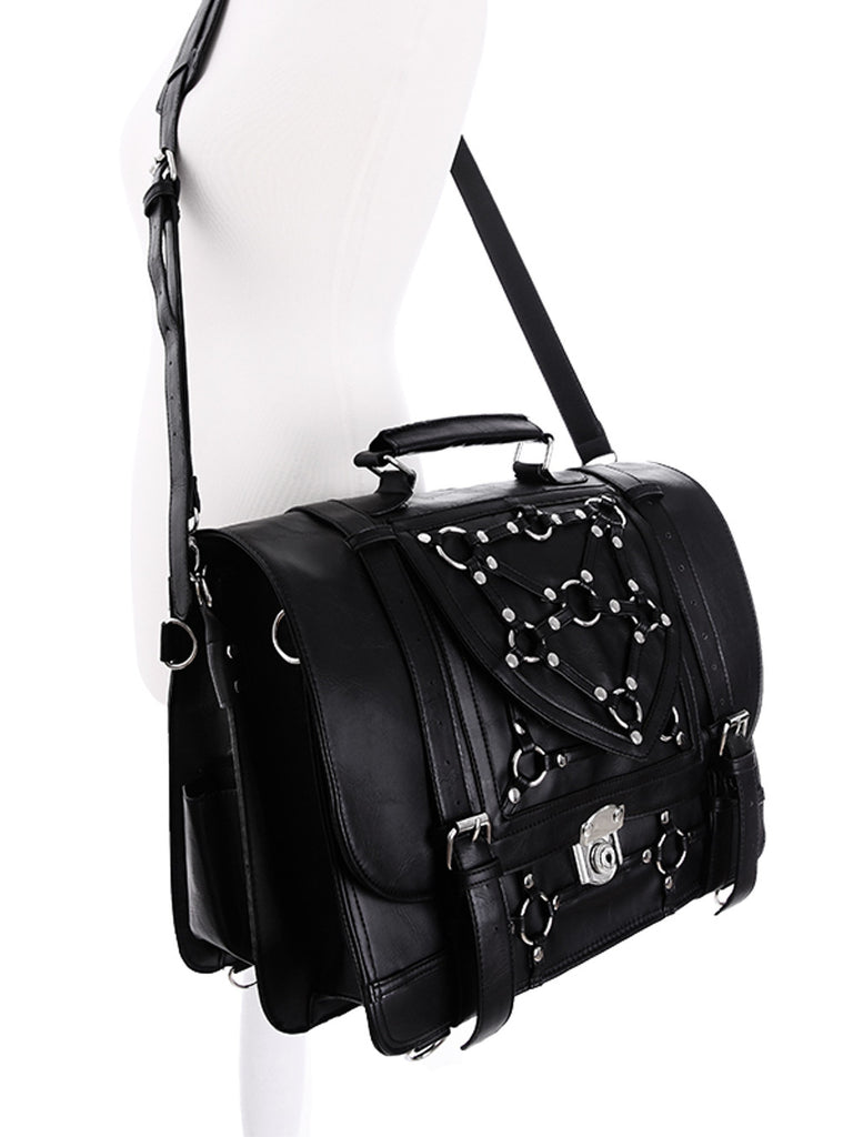 Gothic Witchcraft Bondage Messenger Expandable 3 Way Bag - Skelapparel
