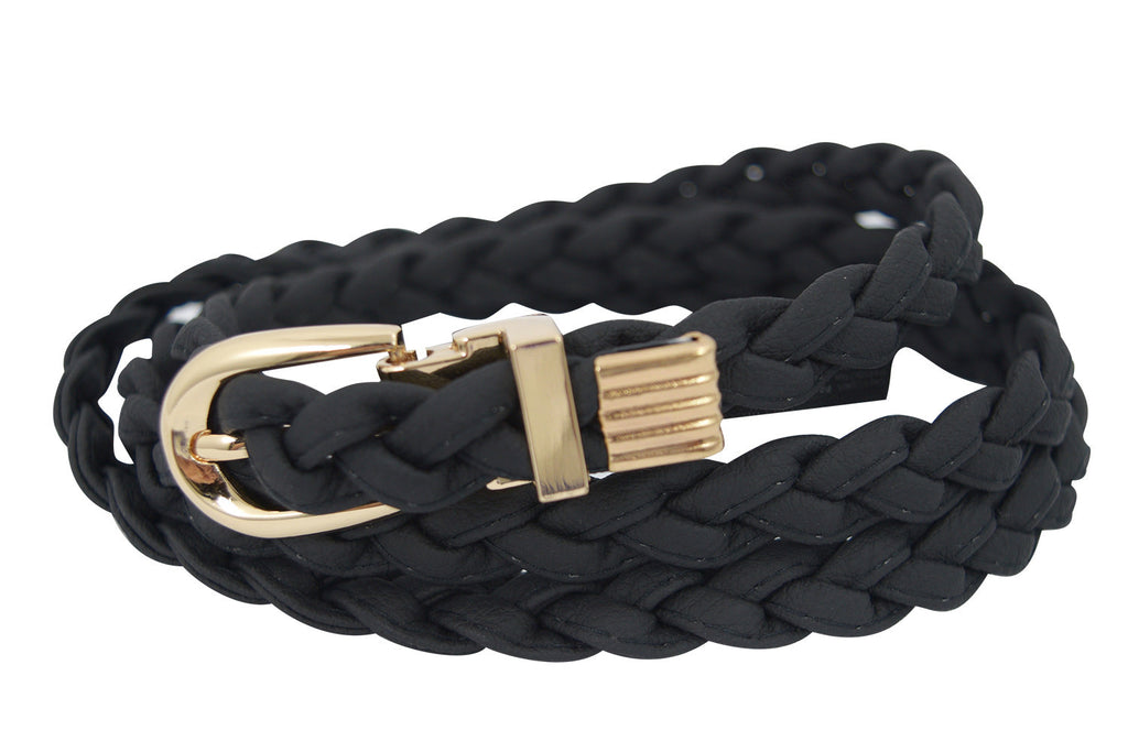 Western Braided Skinny Belt - Skelapparel