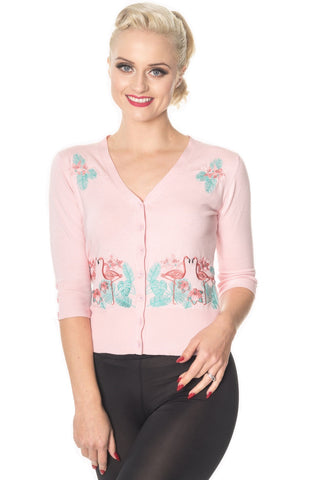 Pink Flamingo Knit Pink Cardigan