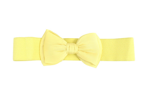 Dancing Days 50's Bella Bow Belt Vinateg Retro pin-up Bow Elastic Cinch belt - Skelapparel