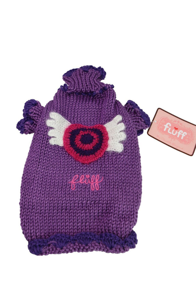 Fluff Dog School Turtle Neck Purple Angel Dog Sweater - Skelapparel