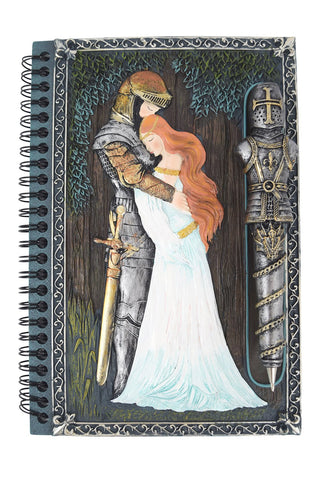 Nemesis Now Medieval Knights Embrace Journal The love of a Knight for his lady, Aucassin and Nicolette