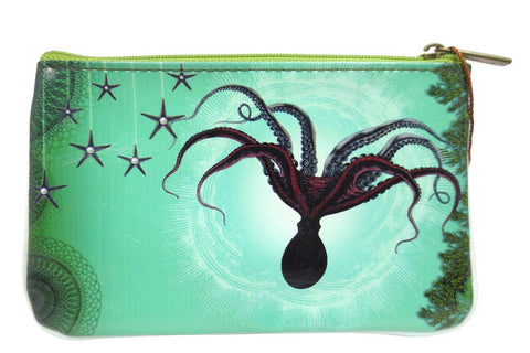 Ocean Dream Mystic Ocean Creature Small Flat Pouch - Skelapparel