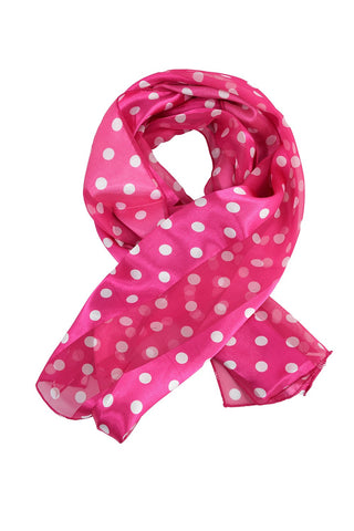 50's Style Retro Vintage Pinup Polka Dot love Satin Stripe Scarf Headband - Skelapparel