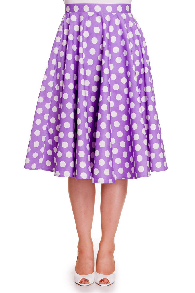 Hell Bunny 50's Dots Love Polka Dot Mariam Circle Swing Skirt - Skelapparel