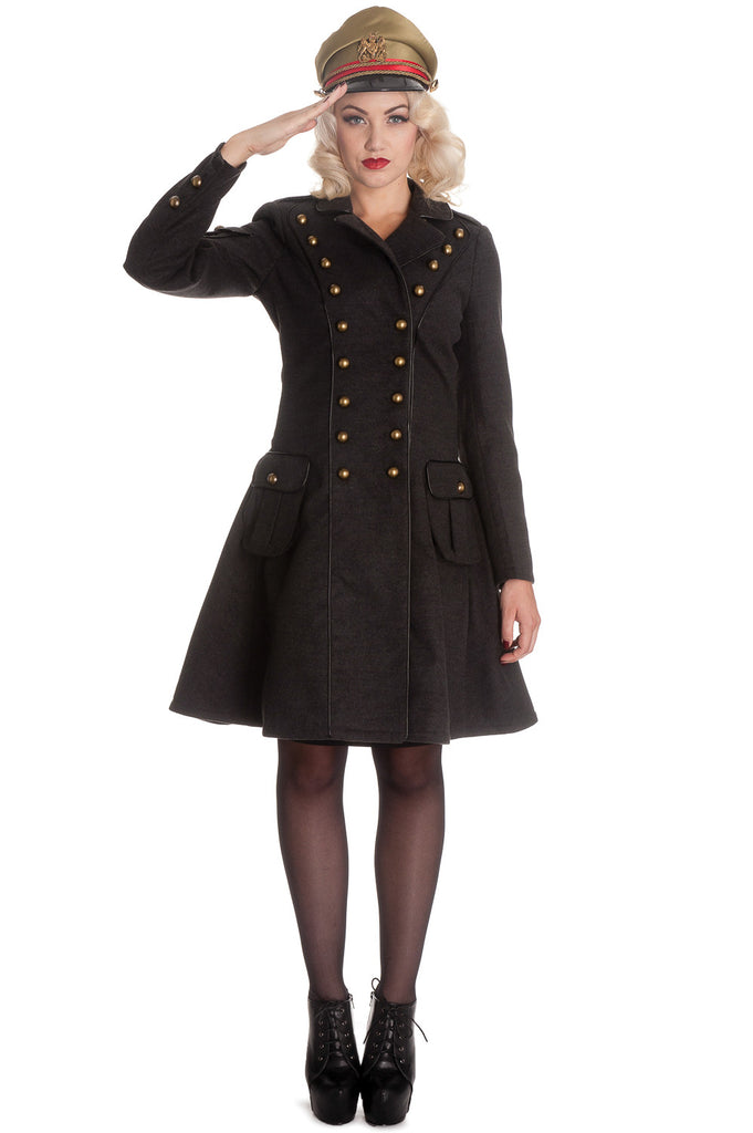 "Hell Bunny Victorian Steampunk Military Corset "" Imma"" Coat - Skelapparel"