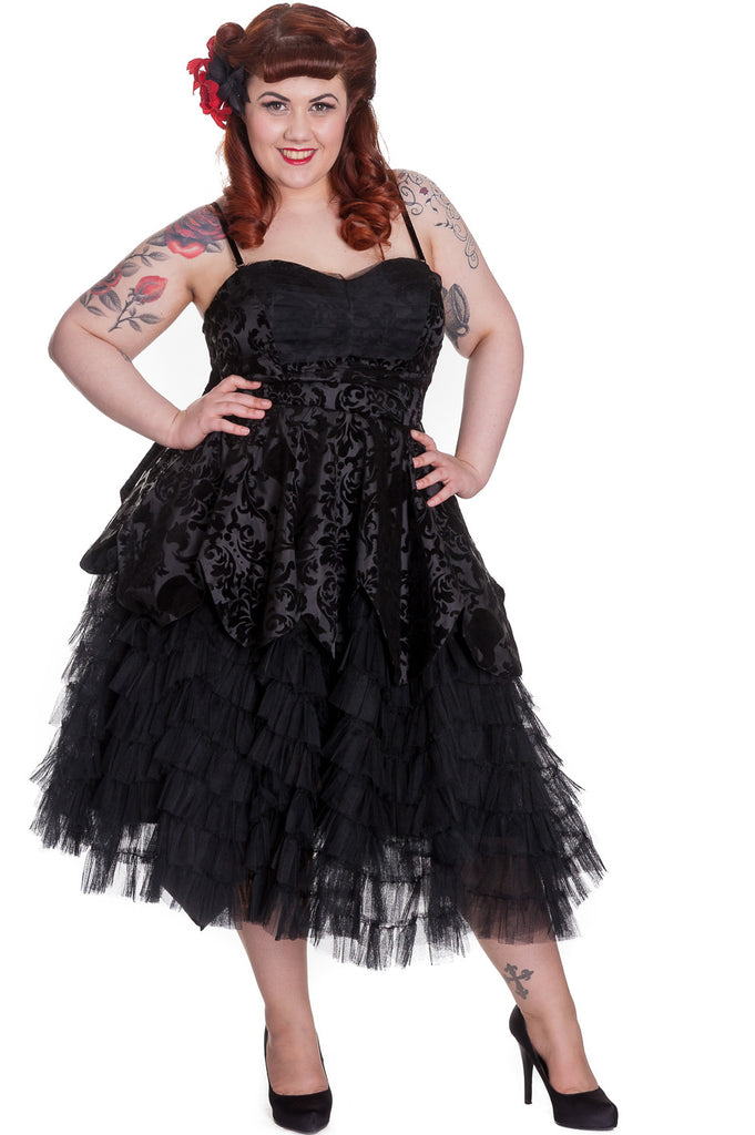 Gothic wedding black gown dress