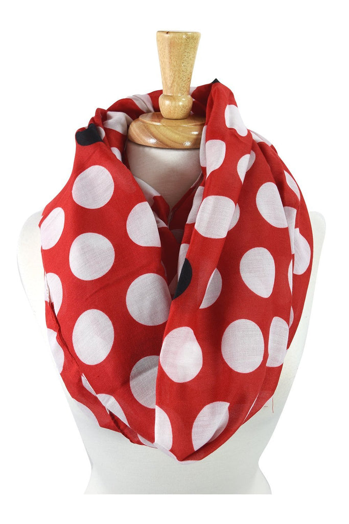City Mod Dots & Dots Polka Dot Lovely Infinity Fashion Scarf - Skelapparel