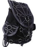 Restyle Dark Side Gothic O-rings & Black Harness Design Witchcraft Backpack - Skelapparel