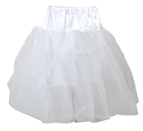 Viva Dance White Petticoat Three Layers Underskirt Pannier - Skelapparel