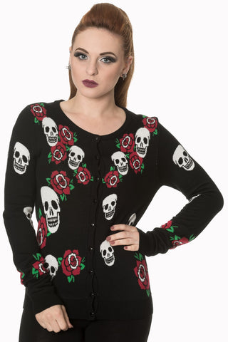 skull and rose cardigans