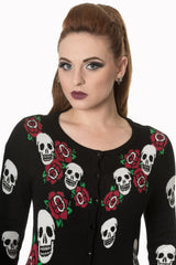 Rockabilly skulls and Roses cardigans