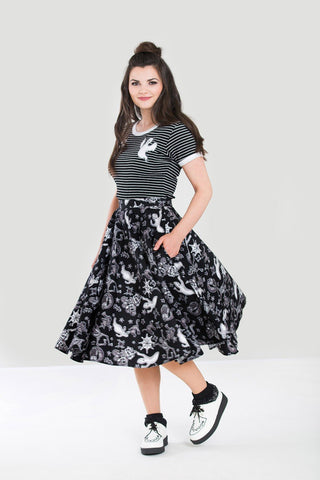 Hell Bunny Spooky Halloween Pocket skirt - Skelapparel