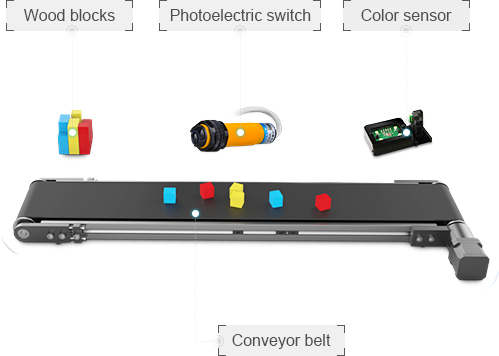 dobot conveyer belt for production lines or stem schools