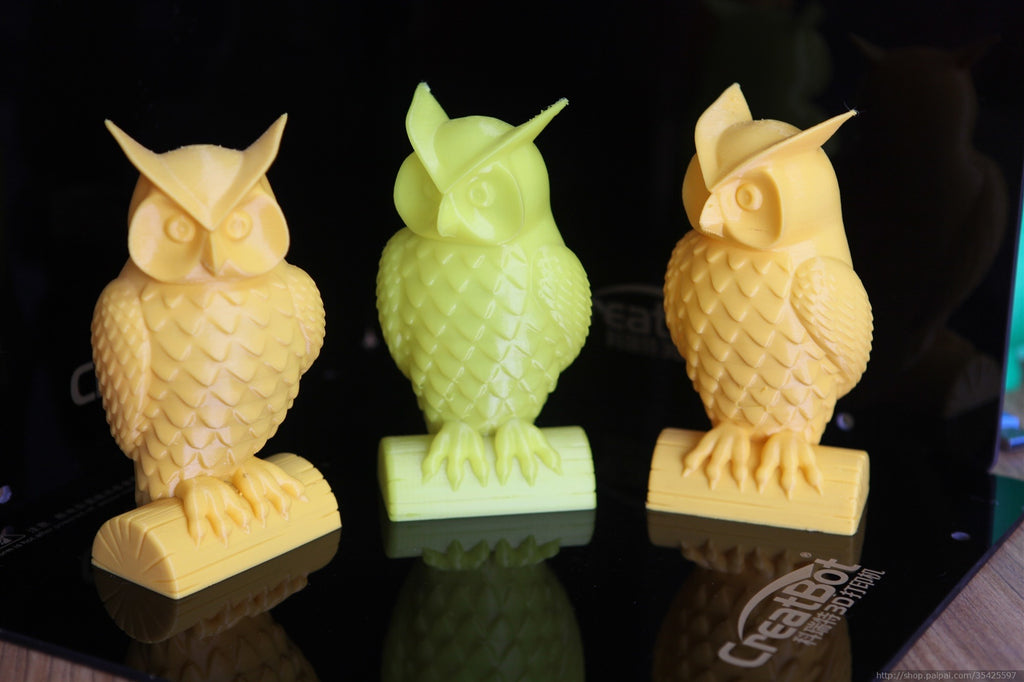 3D Printer Owls on a CreatBot 3D Printer
