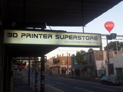 The 3D Printer Superstore retail shop front is open