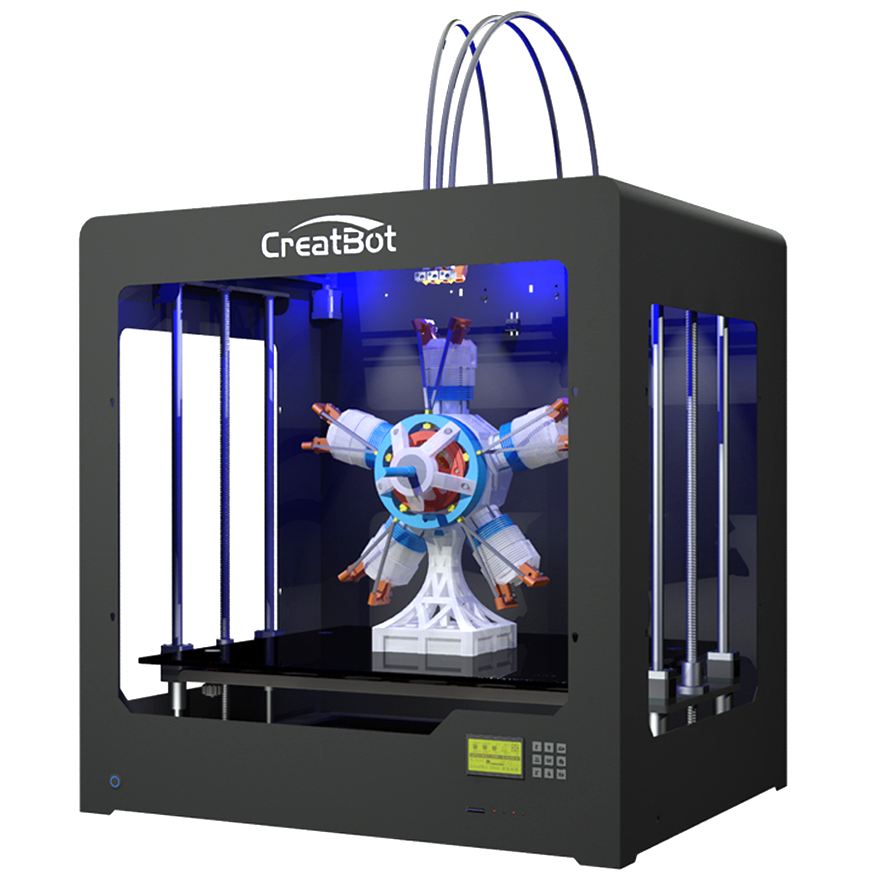 CreatBot DG 3D Printer highest speed 3d printer with 180mm/sec print & 250mm/sec tracle speed
