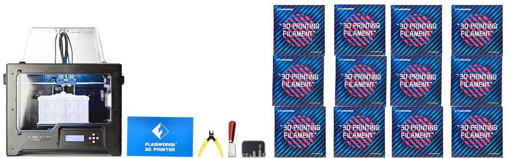 flashforge creator pro special edition se 3d printer superstore printing bundle with filaments and tools for engineering
