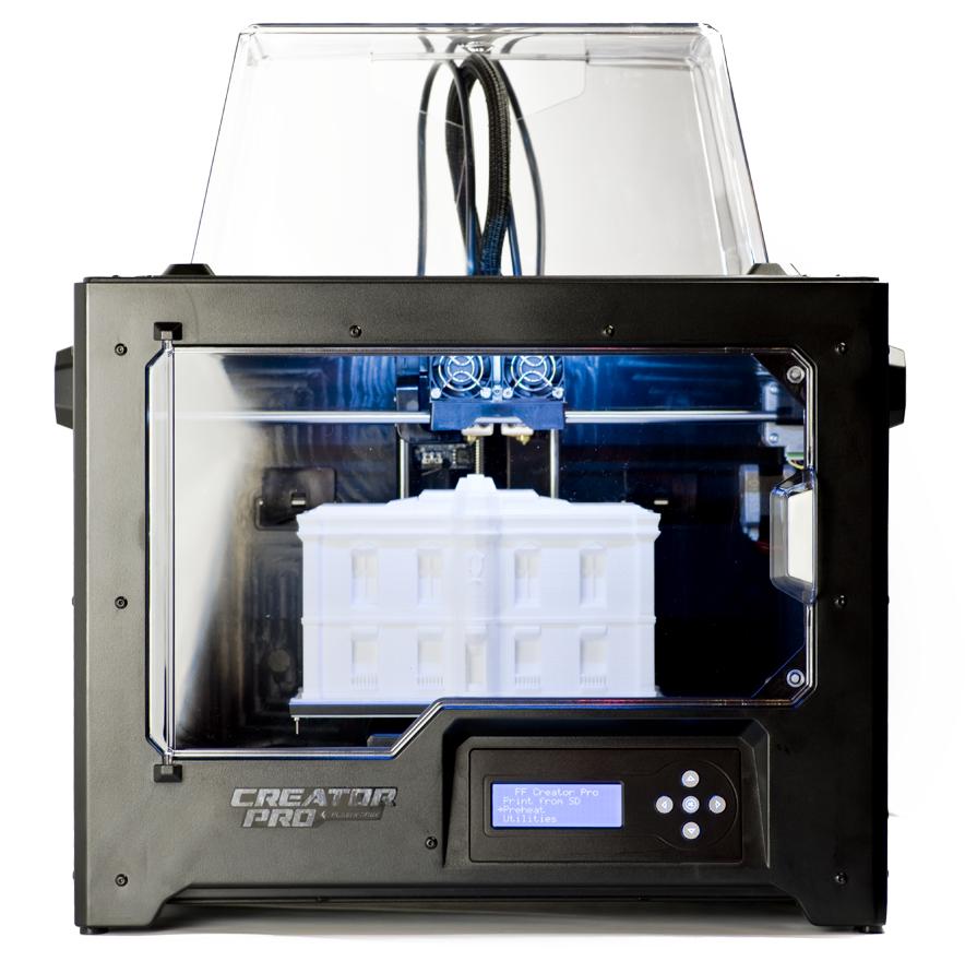 New Flashforge Creator Pro 2016 front view