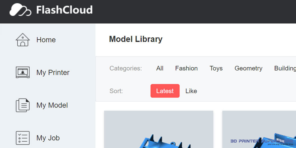 new flashcloud interface for managing 3d printers