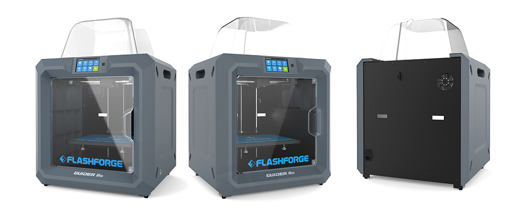 guider IIs 3D printer flashforge series large build volume high temperature side rotational shots