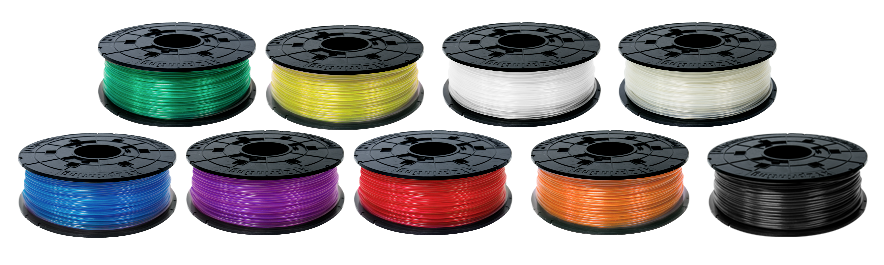Da Vinci Jr PLA Filament Colour Range