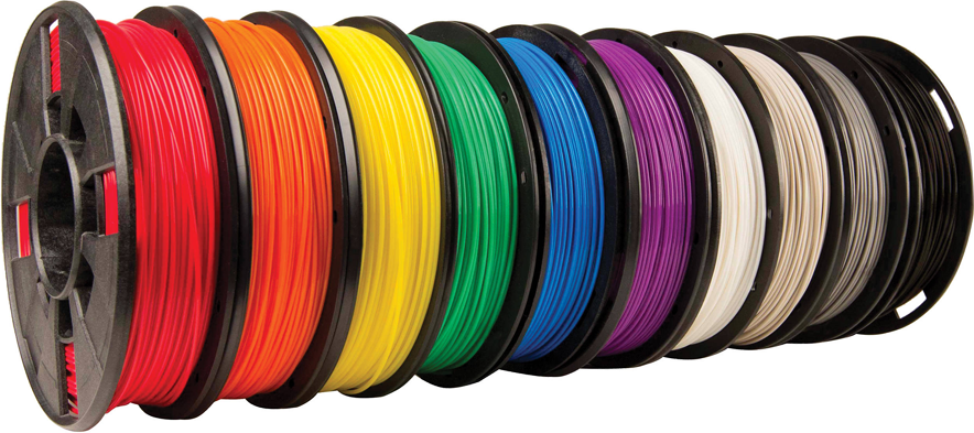 Makerbot Small True Colour PLA FIlament 10 Pack