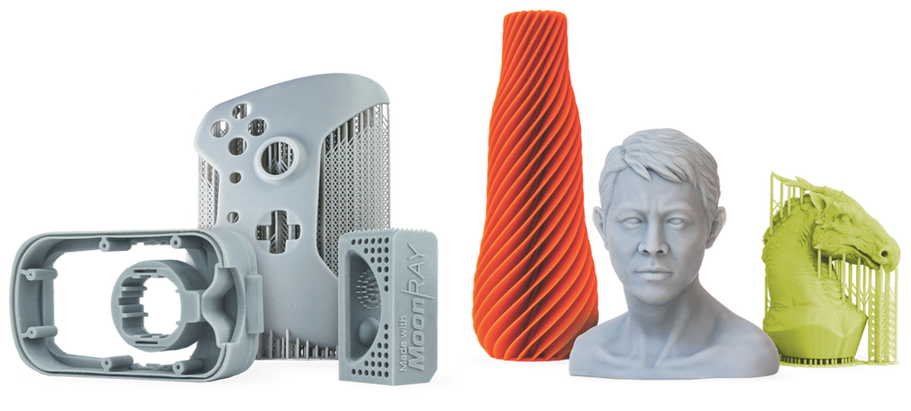 moonray resin DLP 3D prints