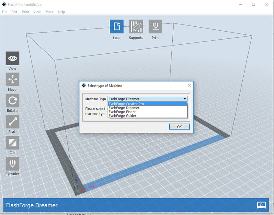 Creator pro now used flashprint software